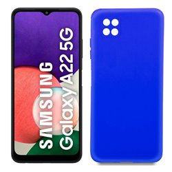 Funda azul para Samsung Galaxy A22 5G de silicona