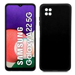 Funda negra para Samsung Galaxy A22 5G de silicona