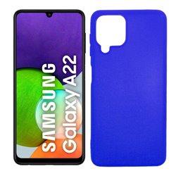 Funda azul para Samsung Galaxy A22 4G de silicona