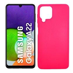 Funda rosa para Samsung Galaxy A22 4G de silicona