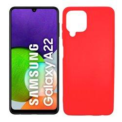 Funda roja para Samsung Galaxy A22 4G de silicona
