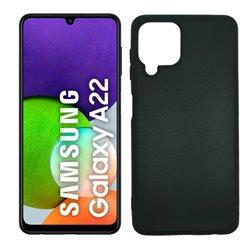 Funda negra para Samsung Galaxy A22 4G de silicona
