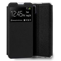 Funda con Tapa y Ventana para Samsung Galaxy A22 4G negro