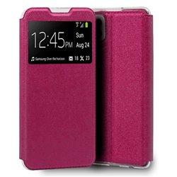 Funda con Tapa y Ventana para Samsung Galaxy A22 4G rosa