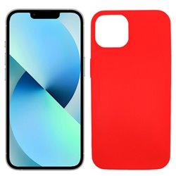 Funda roja para iPhone 13 de silicona