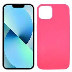 Funda rosa para iPhone 13 de silicona