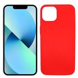 Funda roja para iPhone 13 Mini de silicona