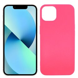 Funda rosa para iPhone 13 Mini de silicona