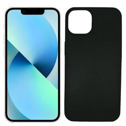 Funda negra para iPhone 13 Mini de silicona