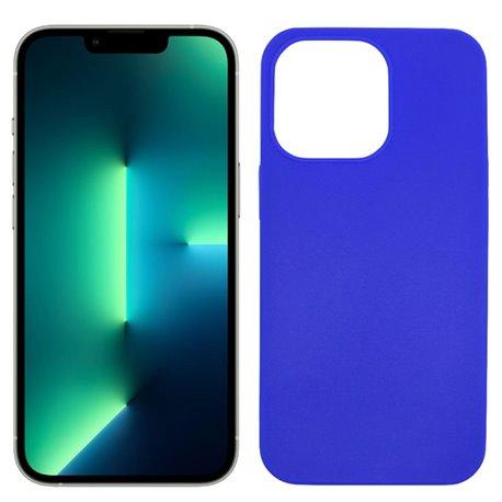 Funda azul para iPhone 13 Pro de silicona