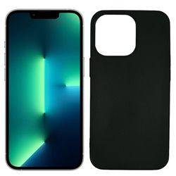 Funda negra para iPhone 13 Pro de silicona