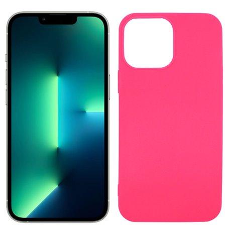 Funda rosa para iPhone 13 Pro de silicona
