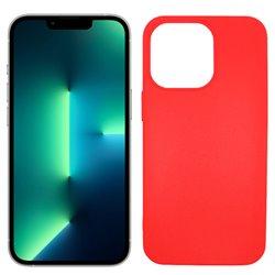 Funda roja para iPhone 13 Pro de silicona
