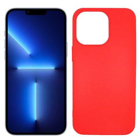 Funda roja para iPhone 13 Pro Max de silicona