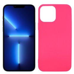 Funda rosa para iPhone 13 Pro Max de silicona