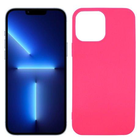 Funda rosa para iPhone 13 Max de silicona