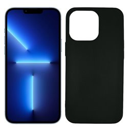 Funda negra para iPhone 13 Pro Max de silicona