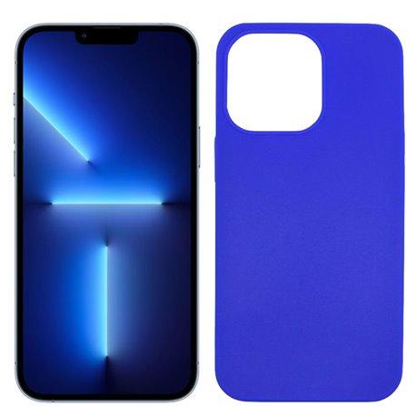 Funda azul para iPhone 13 Max de silicona
