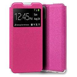 Funda con tapa y ventana para iPhone 13 Pro Rosa