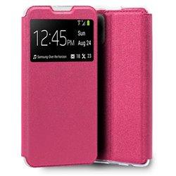 Funda con tapa y ventana para iPhone 13 Rosa