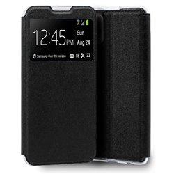 Funda con tapa y ventana para iPhone 13 Negro