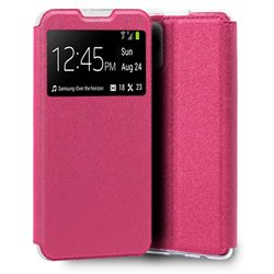 Funda con tapa y ventana para iPhone 13 Mini Rosa