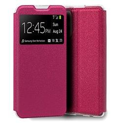 Funda con Tapa y Ventana para Samsung Galaxy A52 / A52 5G rosa