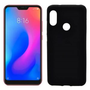 funda de silicona mate lisa color negro para los nuevos Xiaomi